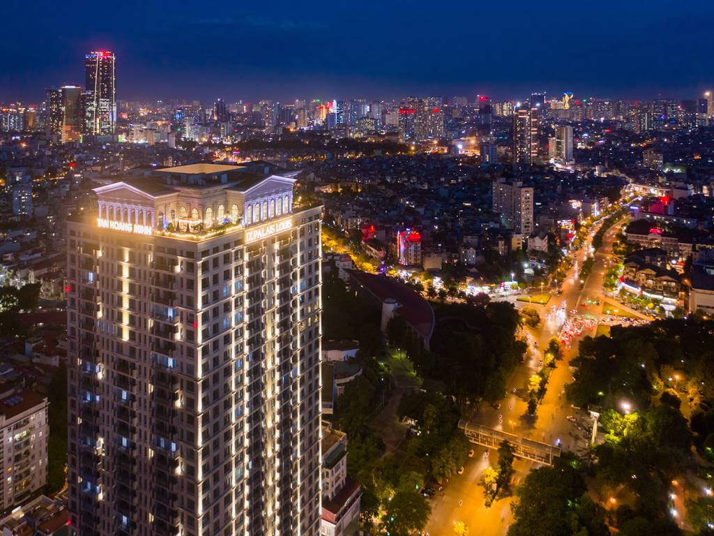 Ảnh thực tế D'. Palais Louis Nguyễn Văn Huyên ban đêm (8)