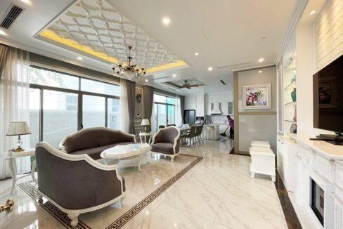 Biệt thự song lập cho thuê Vinhomes The Harmony, 128m2, 3PN, giá 45 triệu (1)