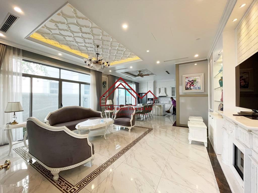 Biệt thự song lập cho thuê Vinhomes The Harmony, 128m2, 3PN, giá 45 triệu