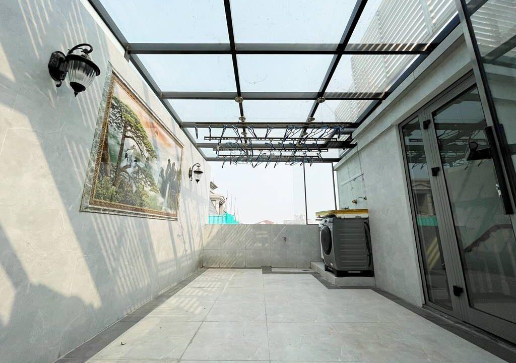 Biệt thự song lập cho thuê Vinhomes The Harmony, 128m2, 3PN, giá 45 triệu (13)