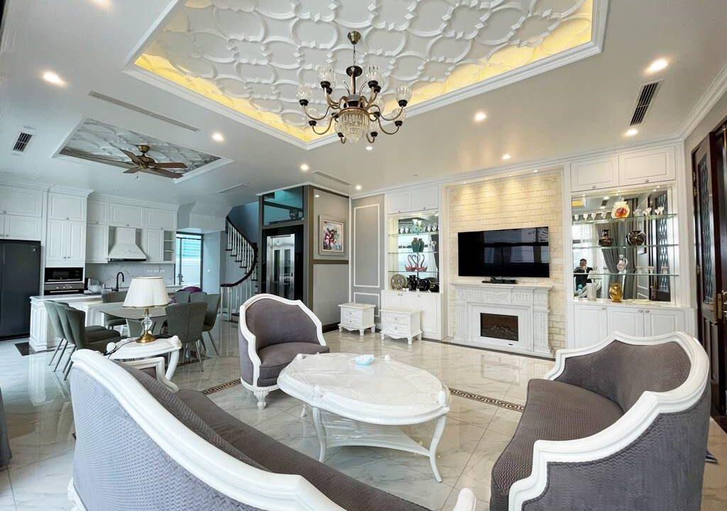 Biệt thự song lập cho thuê Vinhomes The Harmony, 128m2, 3PN, giá 45 triệu (2)